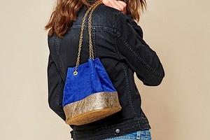Модная сумка-мешок своими руками