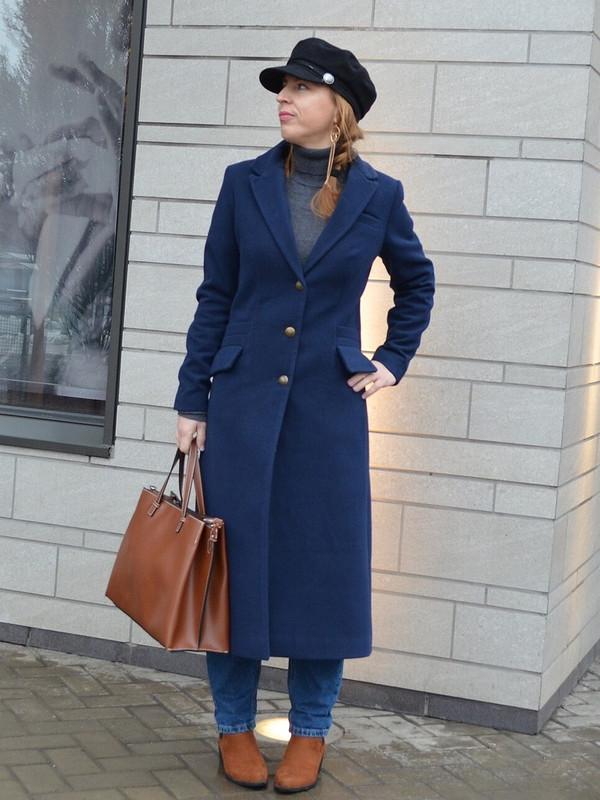 Синее пальто длявесны 2019