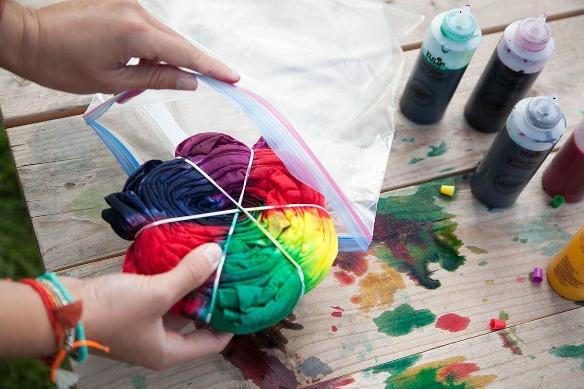 Как покрасить вещь втехнике тай-дай: 6 мастер-классов