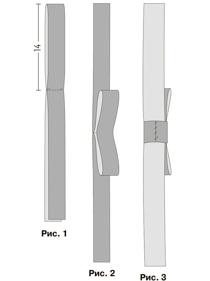 Декоративный бантик изрепсовой ленты своими руками