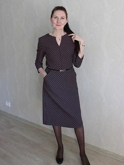 Работа с названием Жаккардовое платье