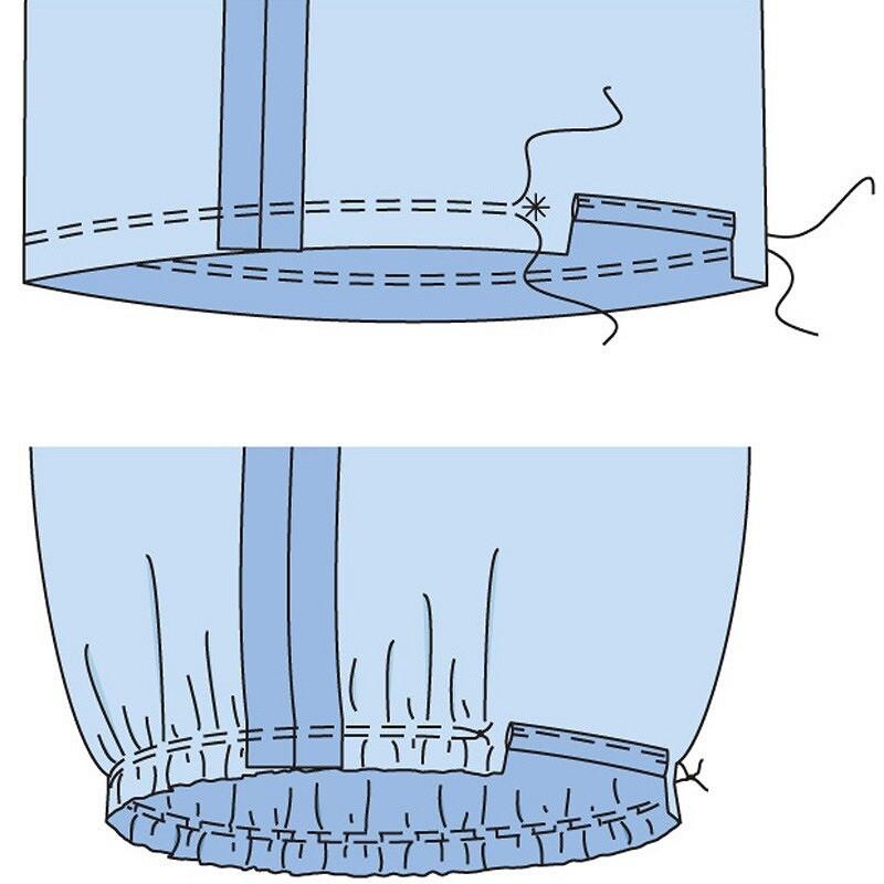 Как выполнить манжеты сзавязками