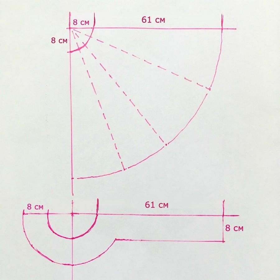 Простая накидка-кейп безподкладки: мастер-класс