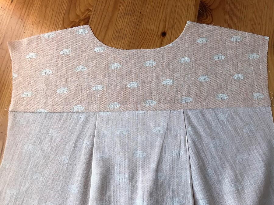 Как выполнить кокетку спинки ублузки-рубашки
