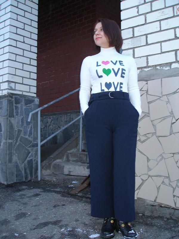 Мартовские широкие брюки
