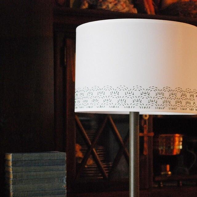 Идея: вышивка сашико наабажуре лампы