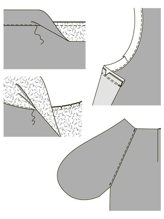 Почему обтачку необходимо настрочить наприпуски шва