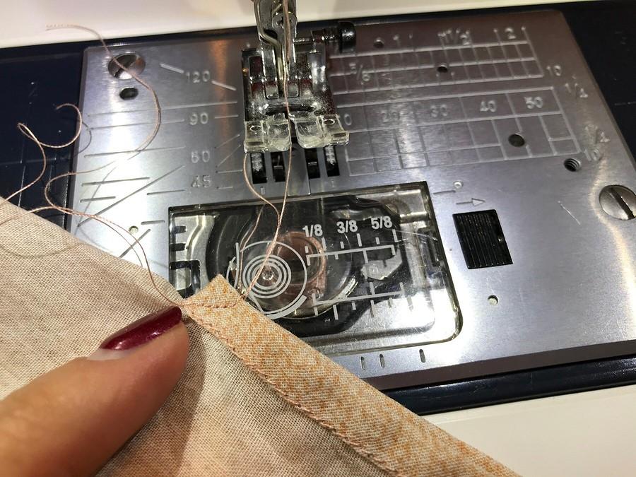 Как обработать разрез рукава косой бейкой