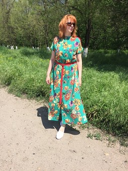 Работа с названием Платье-рубашка Burda 4/2019