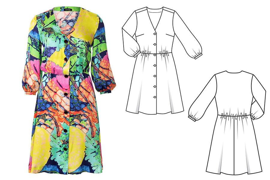 Как укрепить шов талии вотрезном платье