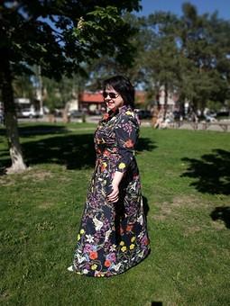 Работа с названием Платье-рубашка ,или День Пионерии
