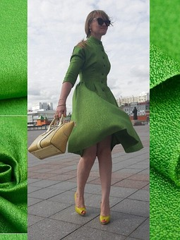 Работа с названием Очень зелёный пост про ретро-платье