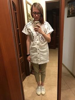 Работа с названием Рубашка оверсайз