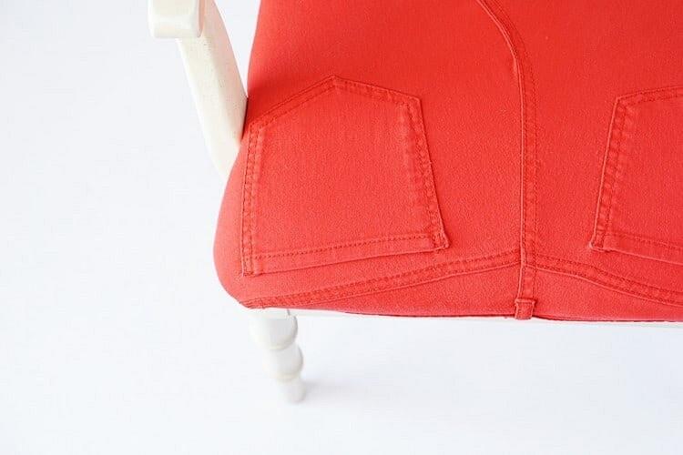 Идея: перетяжка стула спомощью старых джинсов