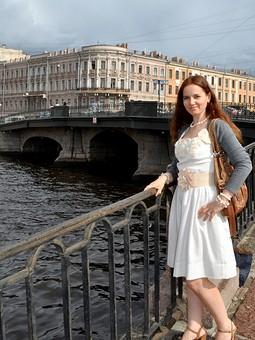 Работа с названием Летнее элегантное платье