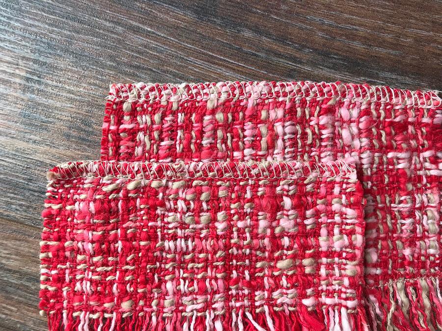 Обработка сыпучих тканей наоверлоке