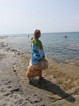 Работа с названием Пляжная туника из полотенечной ткани