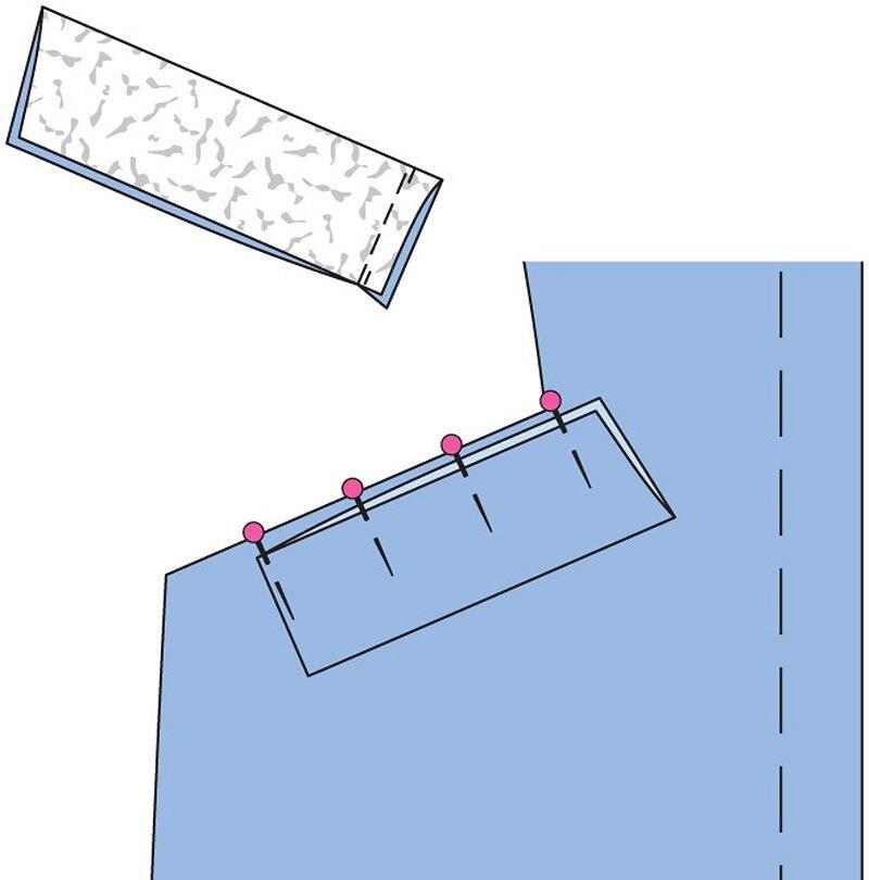 Как выполнить карман слисточкой врельефном шве полочки