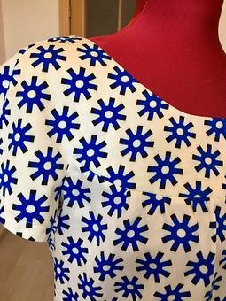 Работа с названием Ретро- блузка из 80 см ткани