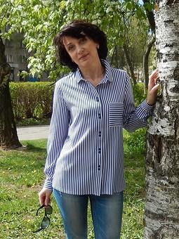 Работа с названием Блузка-рубашка в полосочку