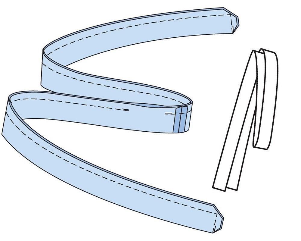 Простые детали: как сшить завязывающийся пояс изткани