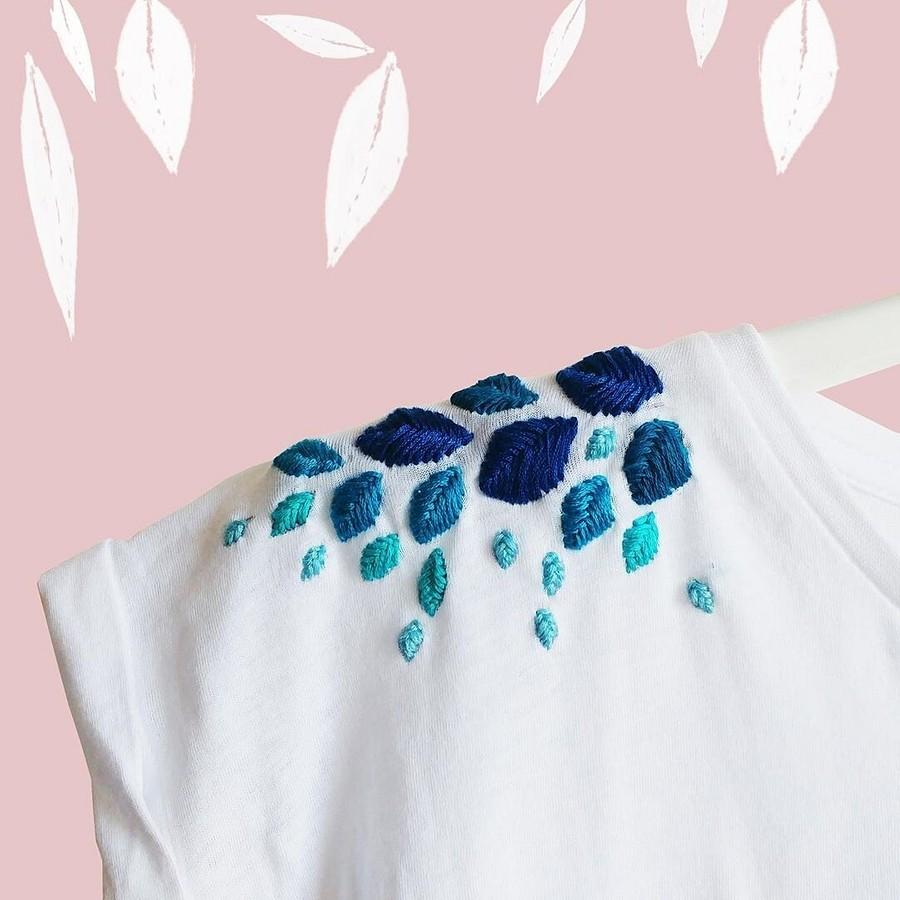 20 идей ручной вышивки нафутболке, которые вам захочется повторить
