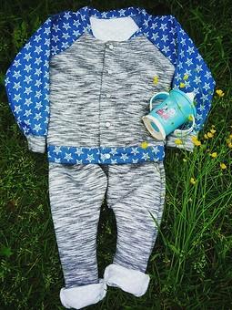 Работа с названием блузон колор - блокинг для малышки и штанишки