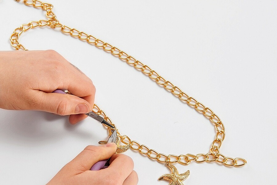 Как сделать пояс-цепочку своими руками