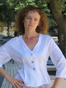 Работа с названием Блуза зефирка