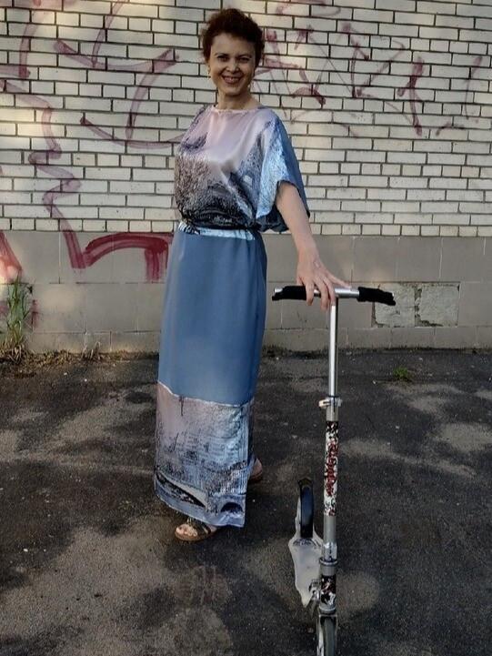 Африкано-французское платье :)