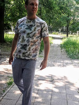 Работа с названием Мужские брюки от Бурды с хорошей посадкой