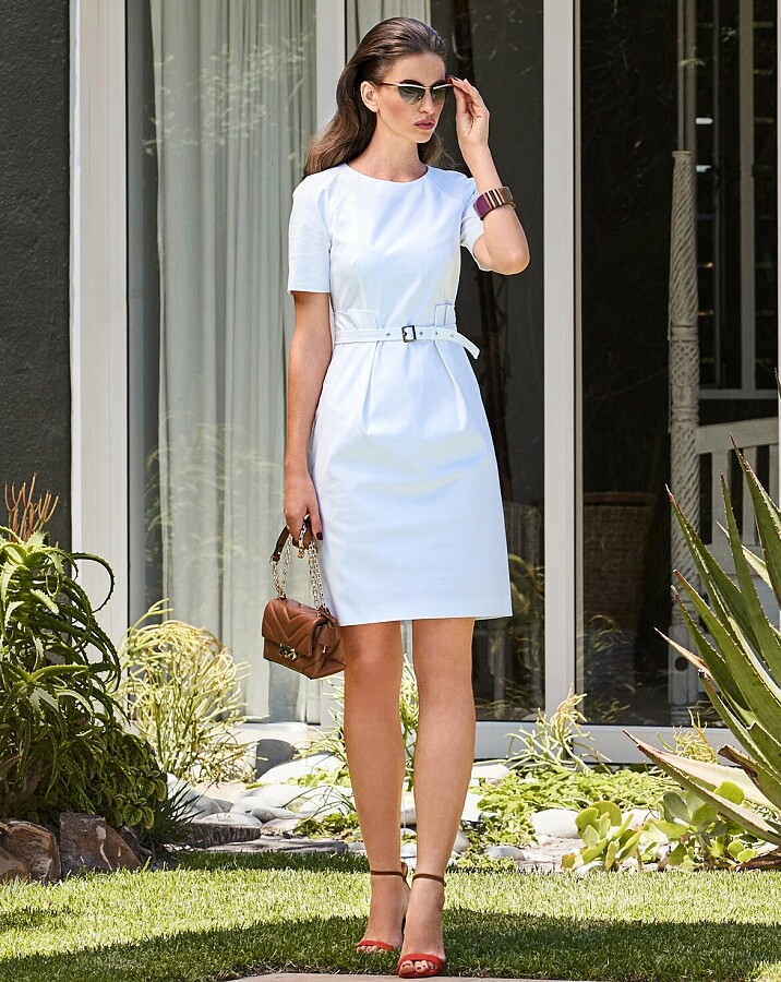 Выкройка месяца: узкое платье сизюминкой