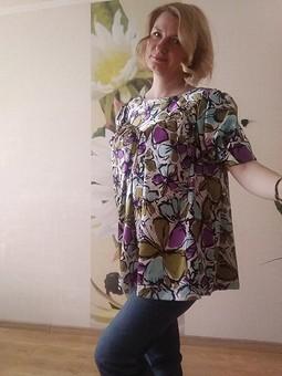 Работа с названием Блуза из шелка