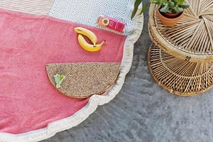 Круглое пляжное покрывало из 3 полотенец: мастер-класс