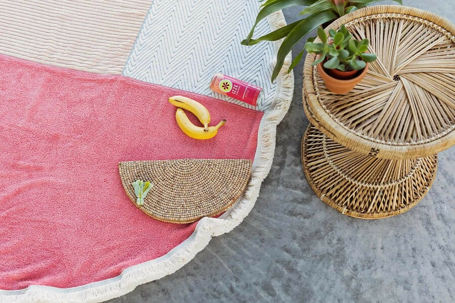 Круглое пляжное покрывало из3 полотенец: мастер-класс