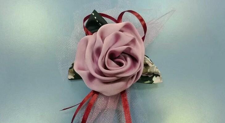 Юбка из цветов из ткани