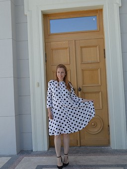Работа с названием Платье в горошек