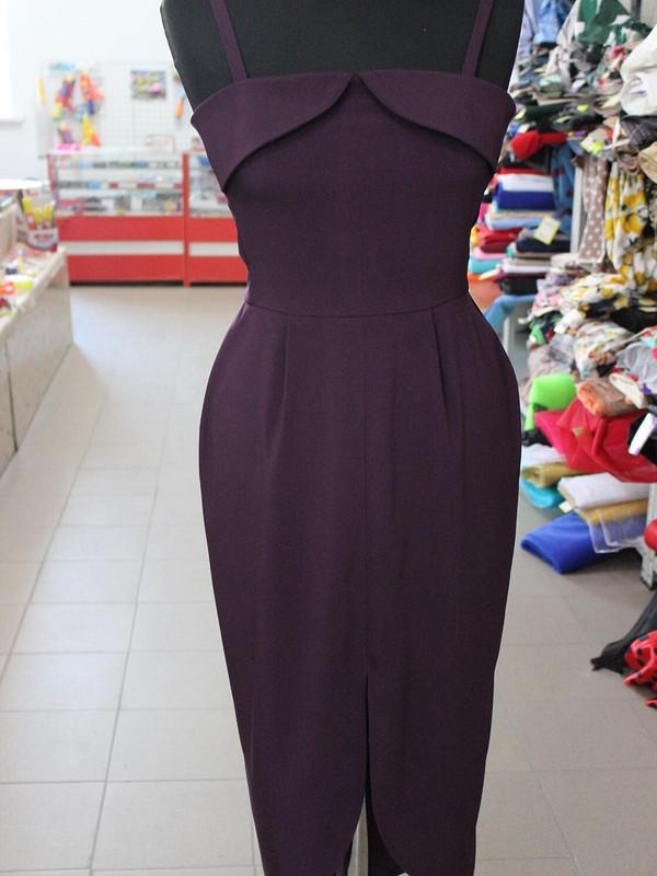 черничное платье.