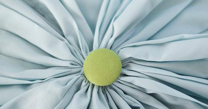 Круглая подушка вскладку: мастер-класс