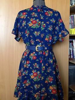 Работа с названием Платье из бабушкиной ткани.