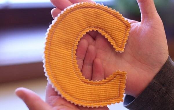 Как сделать буквы из ткани своими руками: мастер-классы + видео