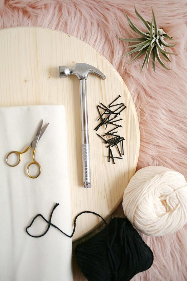 Круглая плетёная подушка: мастер-класс