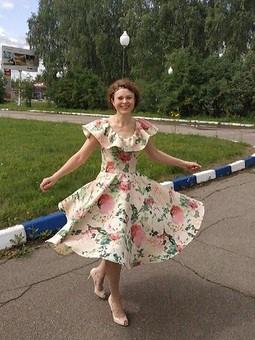 Работа с названием Вот оно какое - наше Лето! Ретро-платье  от OlgaLeto :)