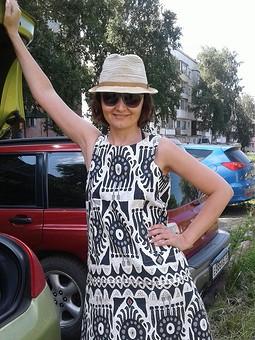 Работа с названием Как остатки из ИКЕА превращаются в платье от BURDA