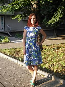Работа с названием *Платье №102 B — выкройка из Burda 5/2019*