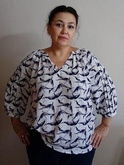 Работа с названием Крестьянская блуза