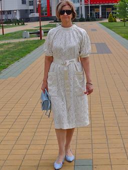 Работа с названием Платье с защипами