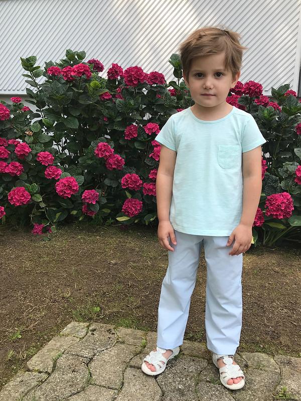 Детские летние брюки изх/б ткани.