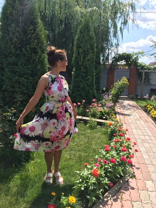 Платье вромашки
