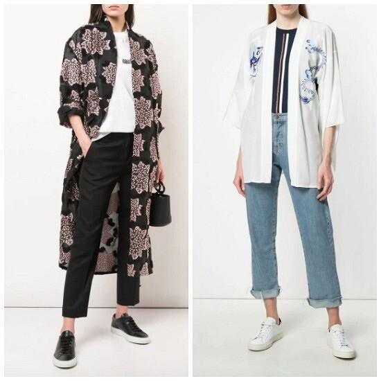 С чем икак носить кимоно: 8 образов